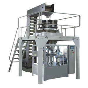 Línia de producció d'ompliment i segellat de pesatge de granulats premade automàtic