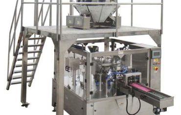 borsa de cremallera automàtica rotativa omple la màquina d'embalatge del segell per a les nous de llavors